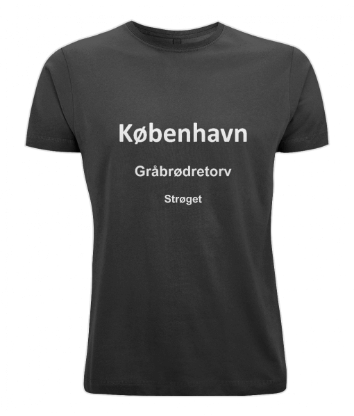 Black mens t-shirt with Copenhagen motif