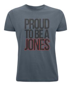 Proud to be a Jones t-shirt (blue)