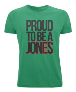 Proud to be a Jones t-shirt (green)
