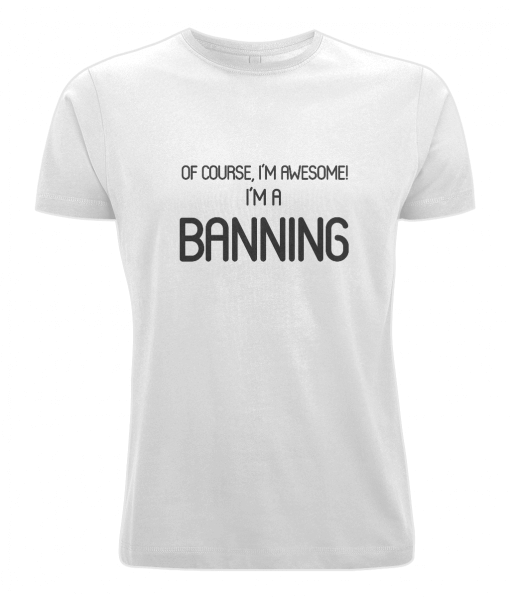 Banning Surname T-Shirt (white)