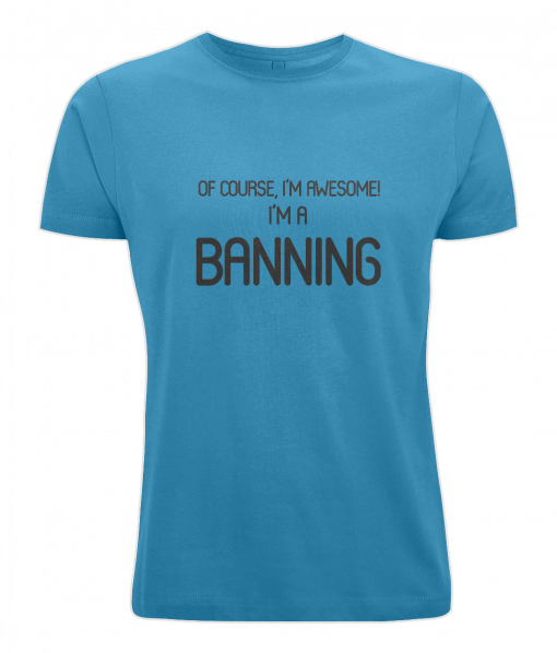 Banning Surname T-Shirt (blue)