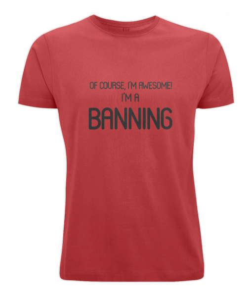 Banning Surname T-Shirt (red)