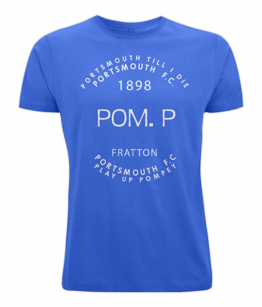 (Blue) POM.P. Portsmouth FC T-Shirt