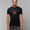 black I heart crossfit t-shirt