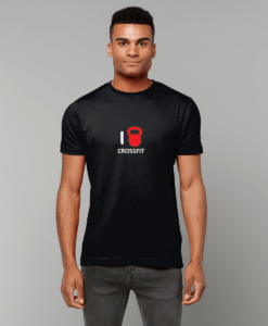 black I heart crossfit t-shirt