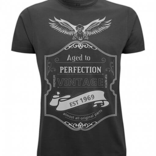 Born in 1969 aged to perfection tshirt UK