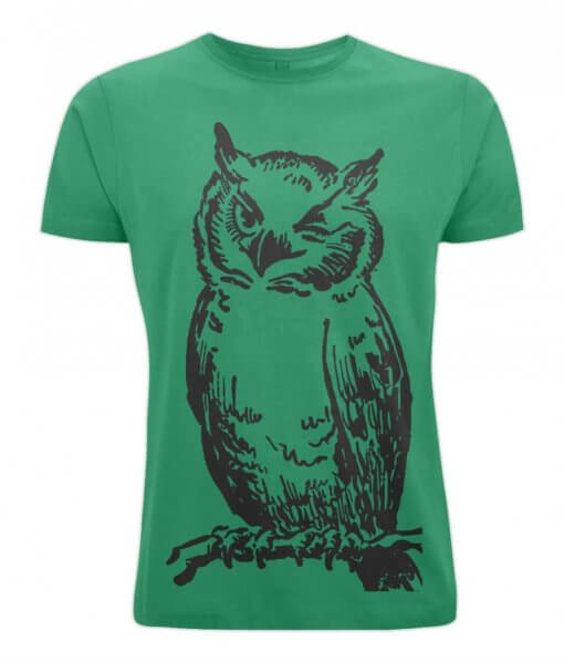 Winking Owl Tshirt Green UK
