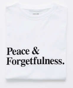 Peace & forgetfulness tshirt uk