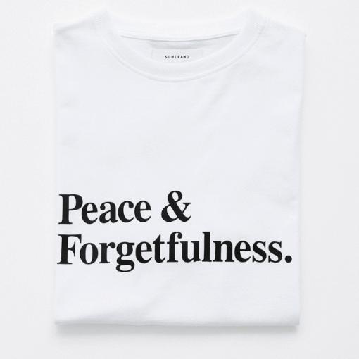 Peace & forgetfulness tshirt uk