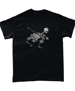 Black t-shirt with Skeleton Guitarist design