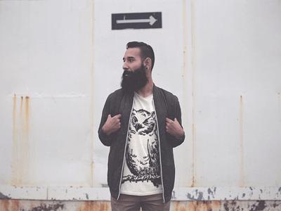 Winking Owl Hipster Tshirt