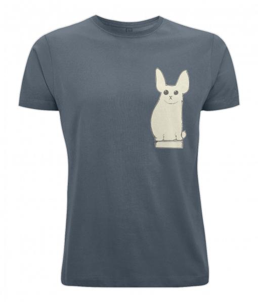 Denim blue t-shirt with cute animal design