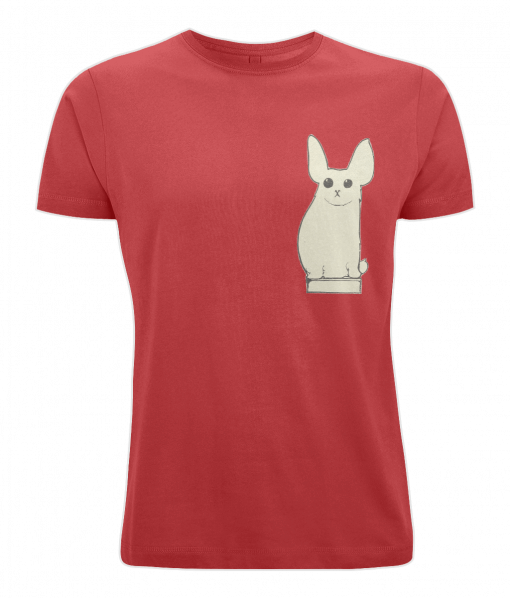 Red t-shirt with cute animal design