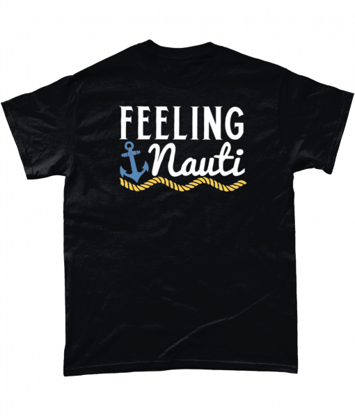 Black t-shirt with feeling nauti design