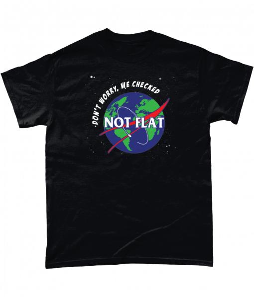 Earth not flat t-shirt