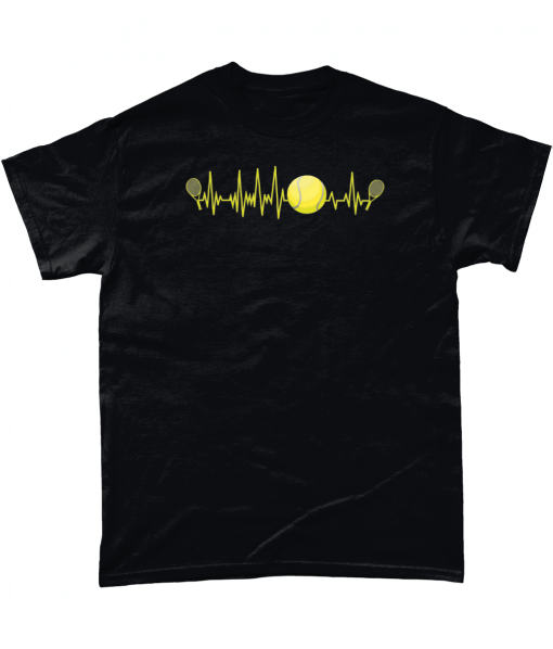 T-shirt with tennis pulse