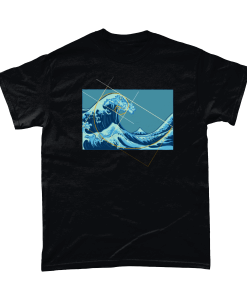 Ocean Meets Fibonacci Graphic T-shirt UK
