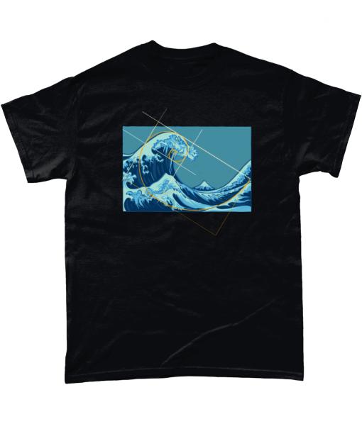 Ocean Meets Fibonacci Graphic T-shirt UK