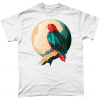 White t-shirt with geometric eagle design