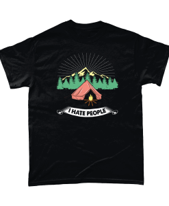 I Hate People / I Love The Wilderness Funny Camping Shirt
