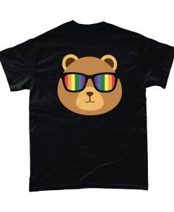 Gay Pride Bear with rainbow sunglasses