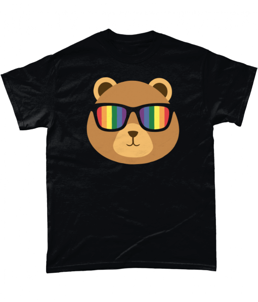 Gay Pride Bear with rainbow sunglasses