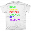 White t-shirt with colour Word test UK