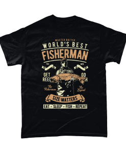 Black t-shirt with Master Baiter - World's Best Fisherman design