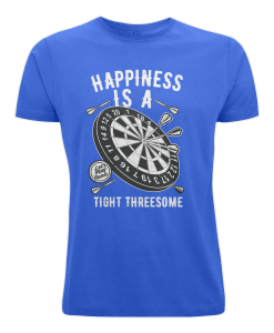 Happiness is a tight threesome blue t-shirt