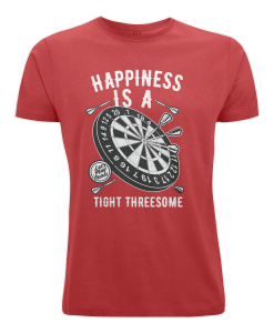 Happiness is a tight threesome red t-shirt