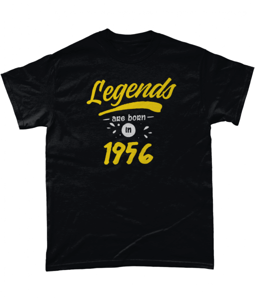 Black Legends are born in 1956 t-shirt