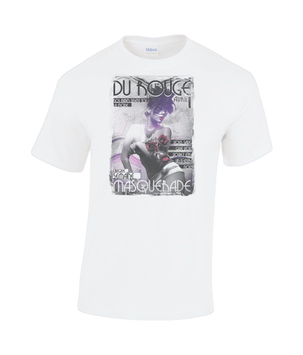 Purple masquerade t-shirt