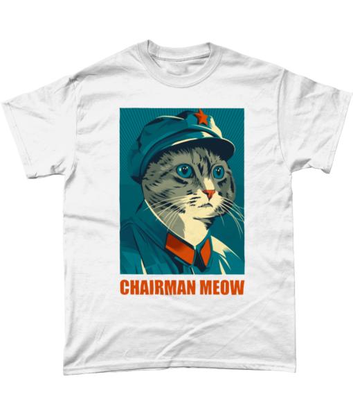 Chairman Meow white t-shirt
