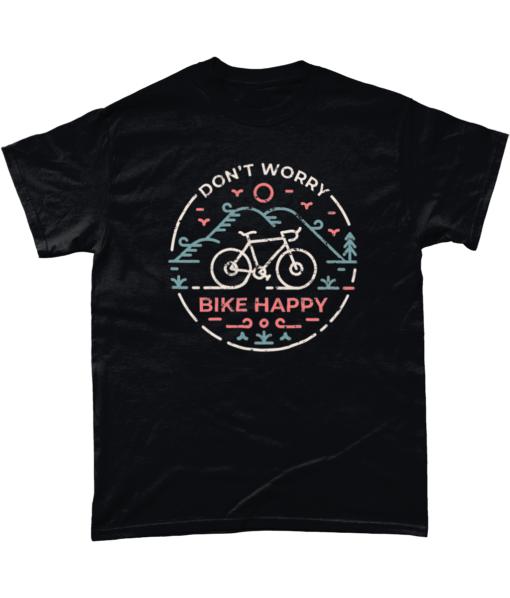 Don't worry bike happy t-shirt