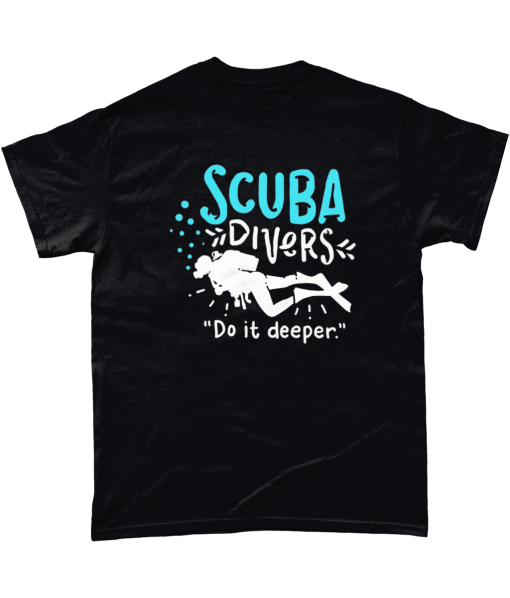 Black Scuba Divers Do It Deeper T-shirt