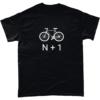 n+1 correct number of bikes tshirt
