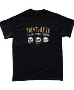 Triathlete - gaming panda t-shirt