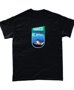 Hooked on fishing tshirt