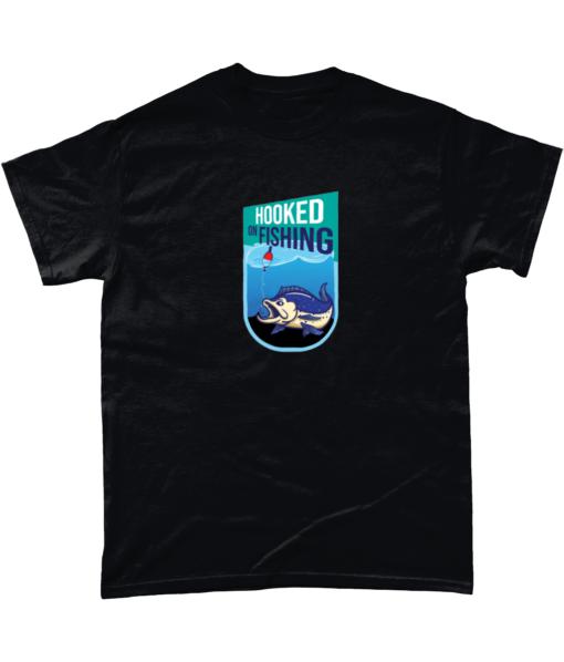 Hooked on fishing tshirt