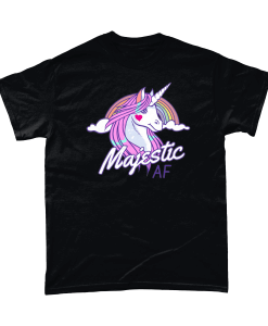 Majestic AF Unicorn black t-shirt