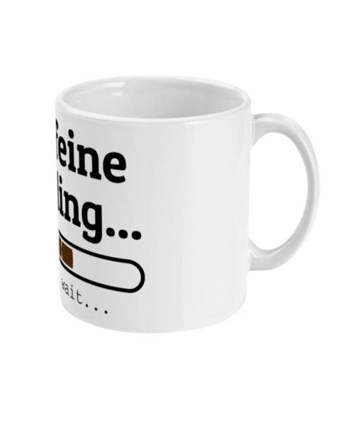 Mug with caffeine Loading design