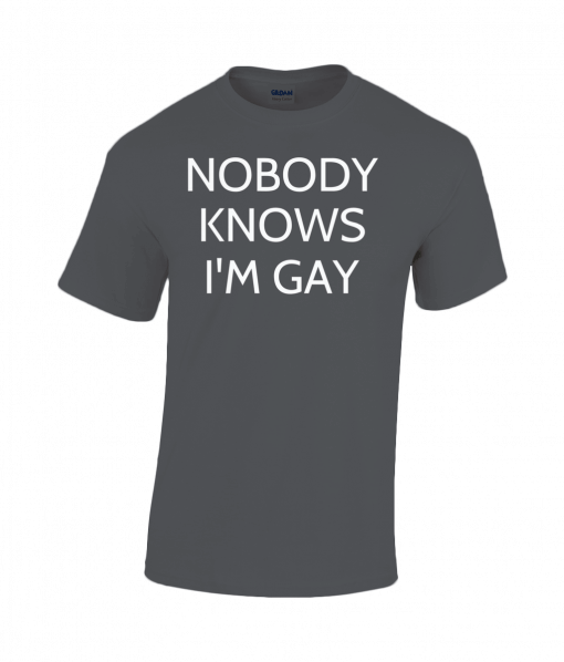 Nobody Knows I'm Gay T-Shirt UK