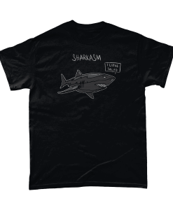 Sharkasm sarcastic shark I love salad t-shirt