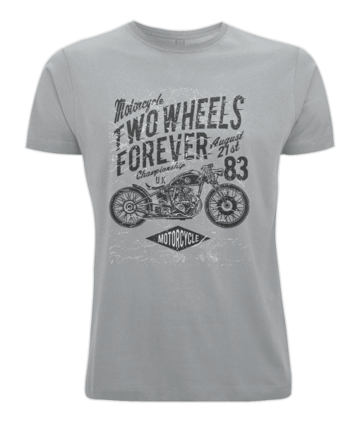 Two Wheels Forever - Grey T-shirt UK